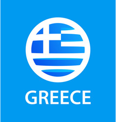 round icon with flag greece greek national vector image