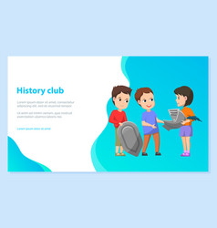 school history club children doing installation vector image