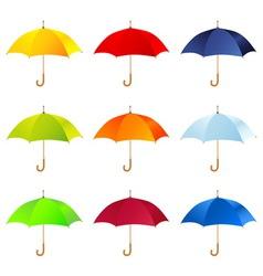 Set of umbrellas vector