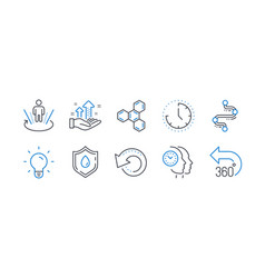 Set science icons such as time blood donation vector