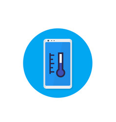 Smart thermostat app icon vector