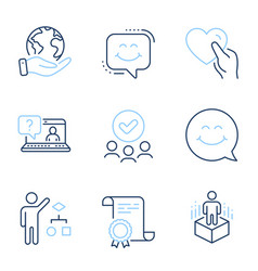 Smile face algorithm and augmented reality icons vector