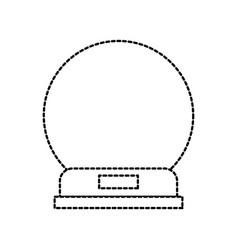 Snowglobe glass wooden base decorative vector