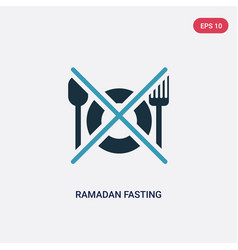 Two color ramadan fasting icon from religion-2 vector