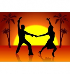 two spain dancers vector image