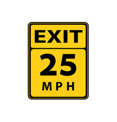 Usa traffic road signs slow downmaximum advised vector