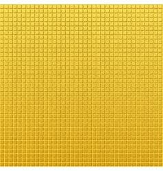 Vintage golden pattern of squares vector image