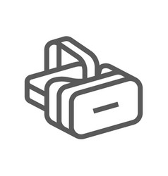 virtual reality helmet line icon vector image