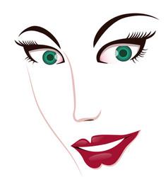 Woman face features vector