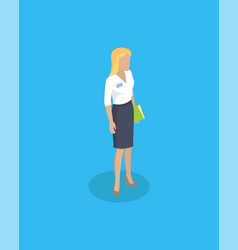 woman wearing blouse and skirt vector image