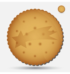 christmas brown biscuit with comet symbol eps10 vector image vector image