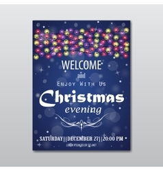 Christmas evening poster vector