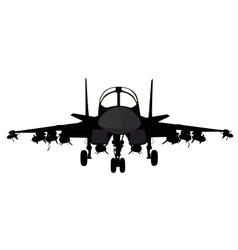 Military aircraft vector image vector image