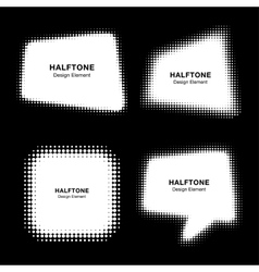 Set of Abstract Halftone Design Elements vector image vector image