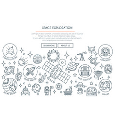 space exploration banner 2 vector image vector image