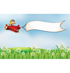 A blank template carried by the red plane vector image vector image