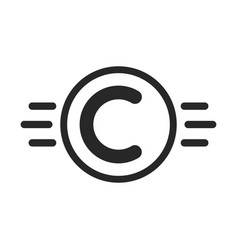 copyright symbol like intellectual property vector image vector image