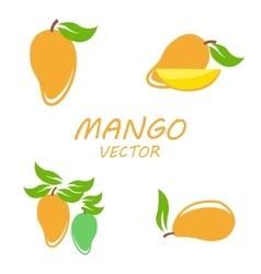 Mango icons set vector image