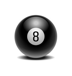 realistic black eight ball of predictions vector image
