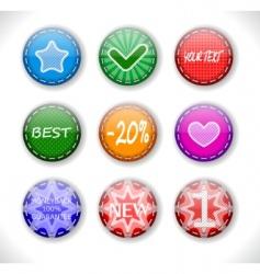 set of discount sale badges vector image