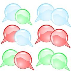 Couple round speech bubbles vector image