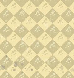 Geometric flower pattern old paper art vector image