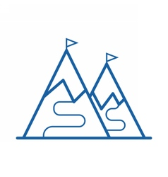 Ski Mountain Icon vector image vector image
