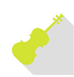 violine sign pear icon with flat vector image vector image