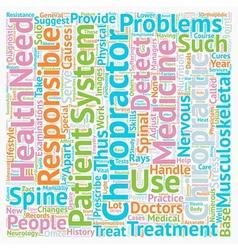 Chiropractors text background wordcloud concept vector image vector image