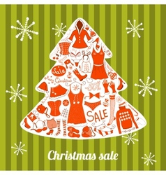 Christmas clothes set vector image