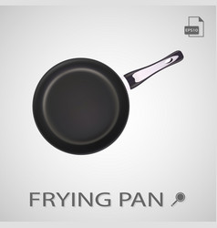metal frying pan isolated on a white background vector image vector image