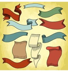 vintage ribbon 199 02 vector image