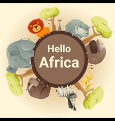 Wild African animal background vector image