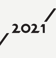 2021 typography with lines minimalism vector