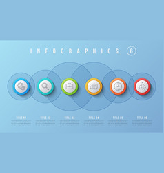 6 options infographic design presentation vector