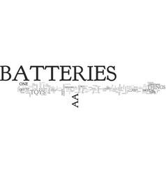 Aa batteries text word cloud concept vector