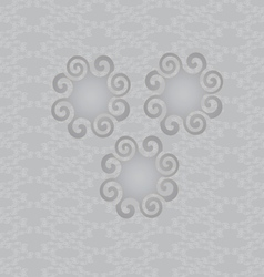 Abstract background with rounded shapes vector image