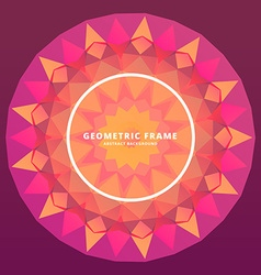 Abstract geometric frame vector