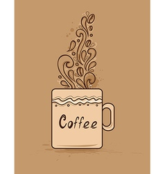 Background with cup of coffee vector