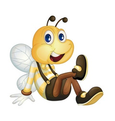Bee sitting vector image