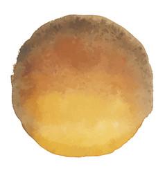 bright brown watercolor banner blot vector image