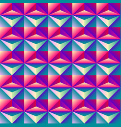 bright colorful geometric abstract rhombus 3d vector image