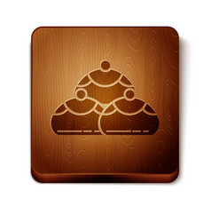 Brown jewish sweet bakery icon isolated on white vector