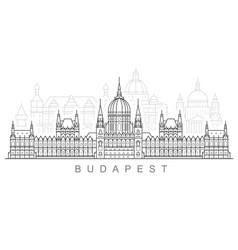 budapest city skyline - hungarian parliament vector image