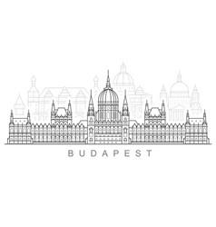 Budapest city skyline - hungarian parliament vector