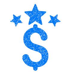 Business stars grunge icon vector