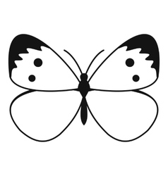 Butterfly with pattern on wings icon simple style vector