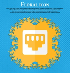 Cable rj45 Patch Cord Floral flat design on a vector
