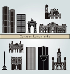 Caracas v2 landmarks vector