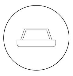 Carpet icon black color in circle vector